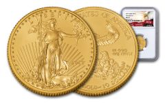 2019 $10 1/4-oz Gold American Eagle NGC MS70 First Releases - Eagle Label