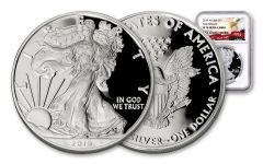 2019-W $1 1-oz Silver American Eagle NGC PF70UC Early Releases - Eagle Label