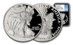 2019-W $1 1-oz Silver American Eagle NGC PF70UC First Day of Issue - Black Core