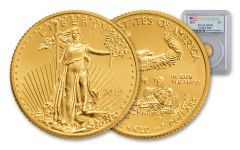 2019 $5 1/10-oz Gold American Eagle PCGS MS70 First Strike