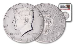 2018-S Kennedy Half Dollar Reverse Proof Light Finish NGC PF70 First Day of Issue - Trolley Label