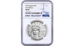 2019 $100 1-oz Platinum American Eagle MS69 First Releases