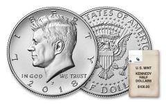 2018-PD Kennedy Half Dollar Bag of 200 Coins