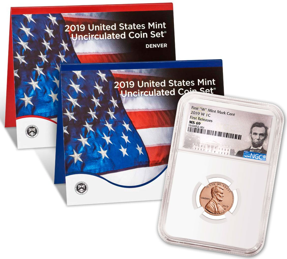 2019-P&D U S  Mint Set w/2019-W Lincoln Cent NGC MS69 FR & Lincoln Label |  GovMint com
