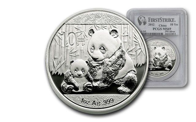 2012 China 1 Oz Silver Panda Pcgs Ms69 First Strike Coin