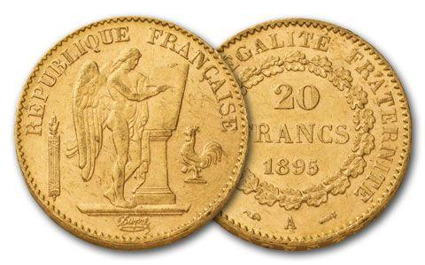 1878-1898 France 20 Francs Gold Angel BU | GovMint com