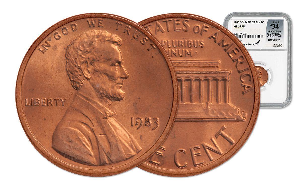 1983 Lincoln Cent Double Die Reverse NGC MS66 Jeff Garrett | GovMint com