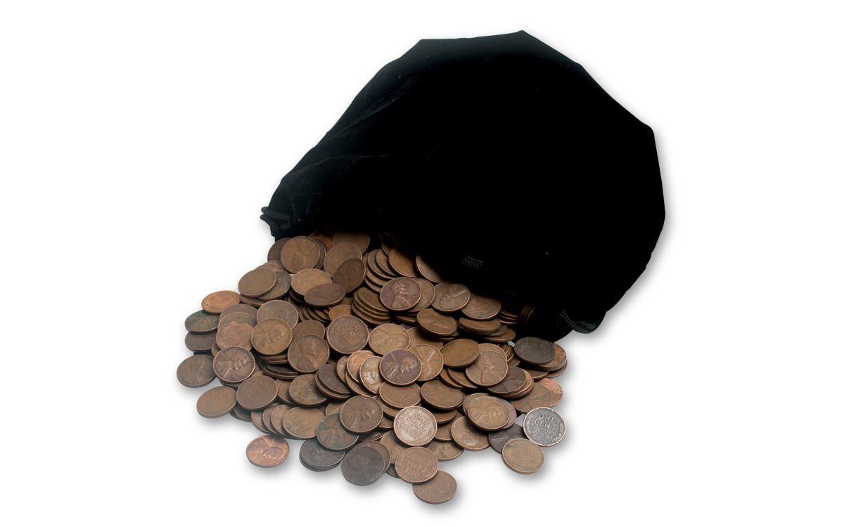 1 Pound Bag 1909-1958 US Lincoln Wheat Pennies | GovMint com