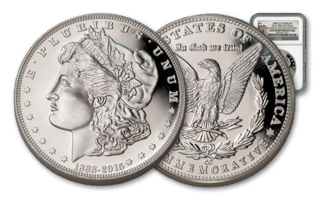 1888 Cc Morgan Silver Dollar Ngc Gem Proof Nevada Museum