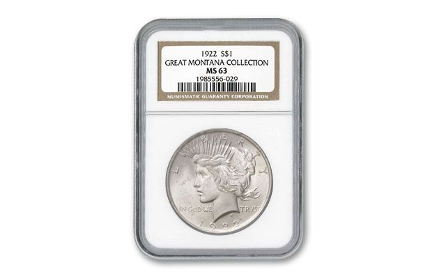 1922-P Peace Silver Dollar NGC MS63 Montana Collection Coins | GovMint com