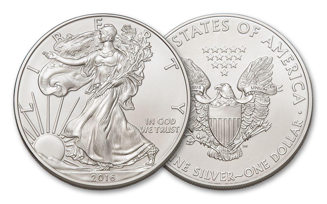 2016 1 Dollar Oz American Silver Eagle Bu Coin Govmint