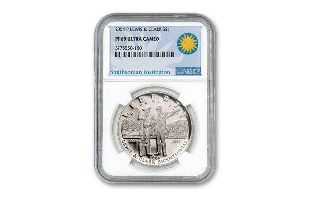 2004 1 Dollar Lewis and Clark Bicentennial PF69 | GovMint com