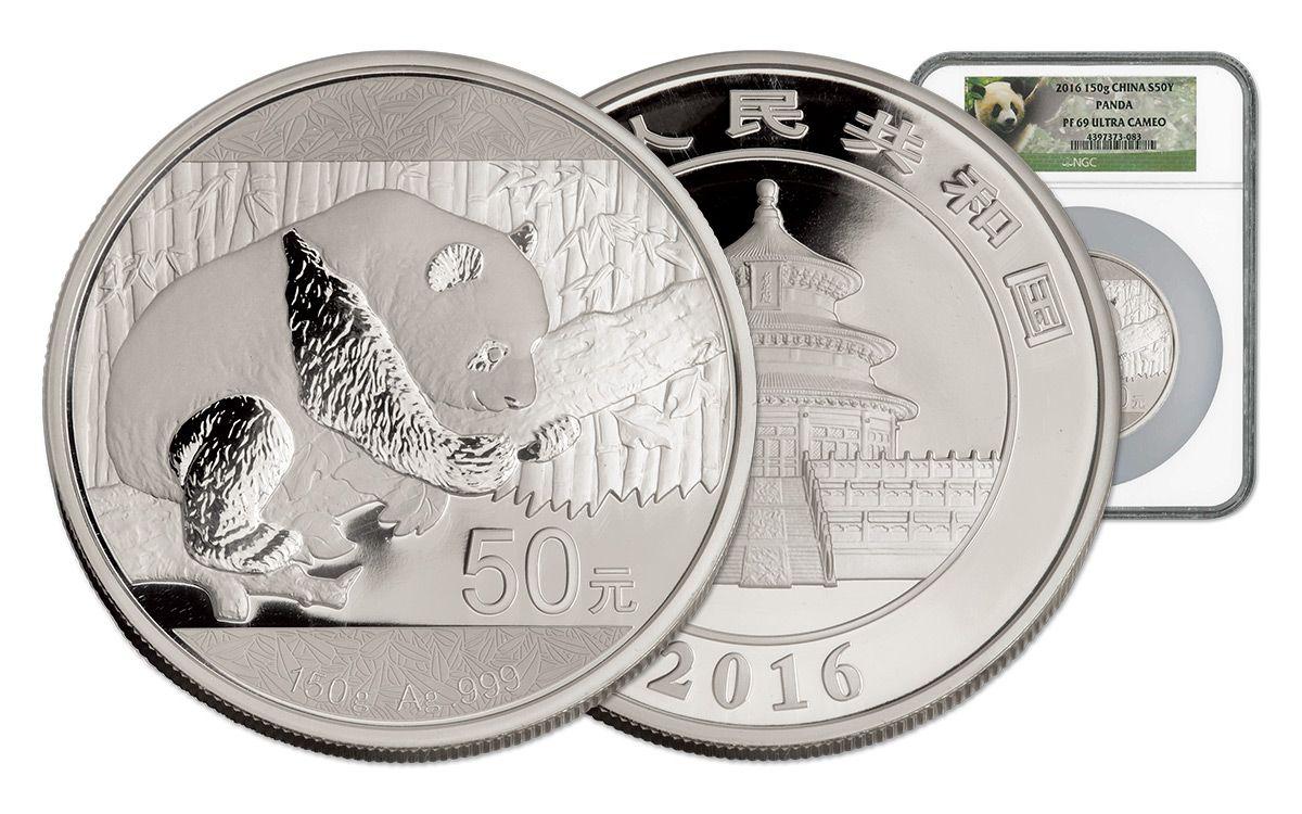 2016 China 50 Yuan 150g Silver Panda Proof Ngc Pf69uc Coin