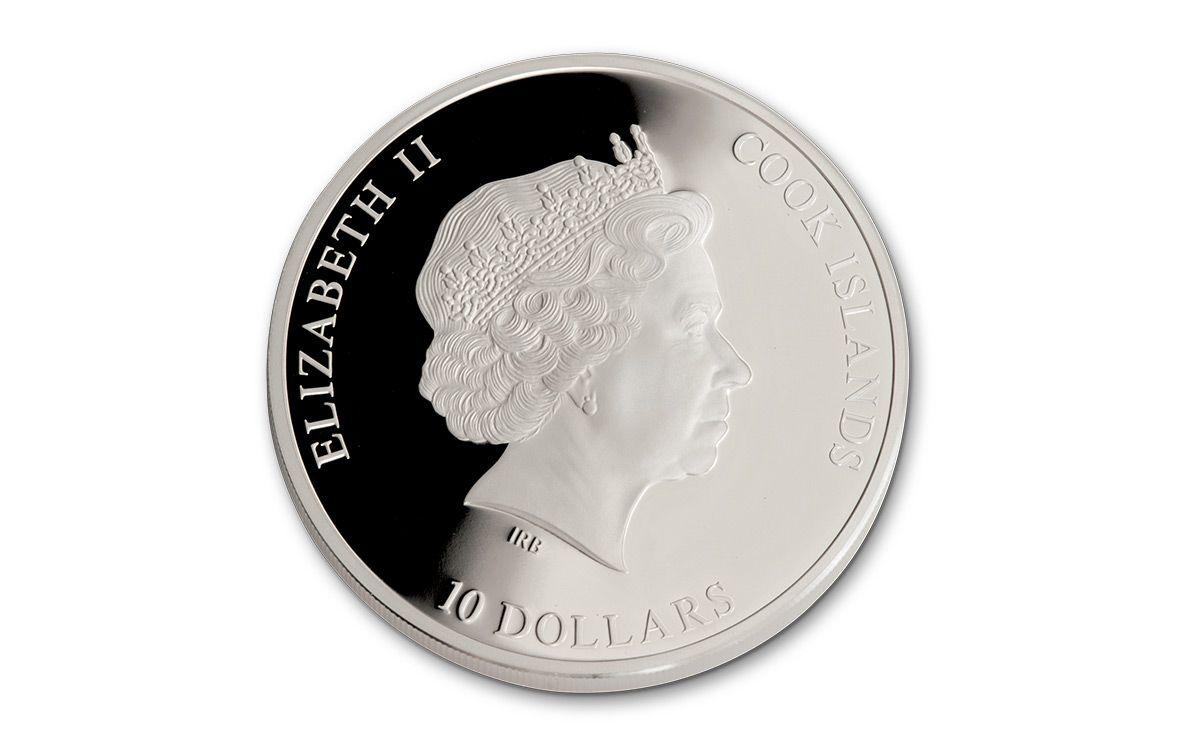 2016 Cook Islands 10 Dollar 50 Gram Silver Egyptian