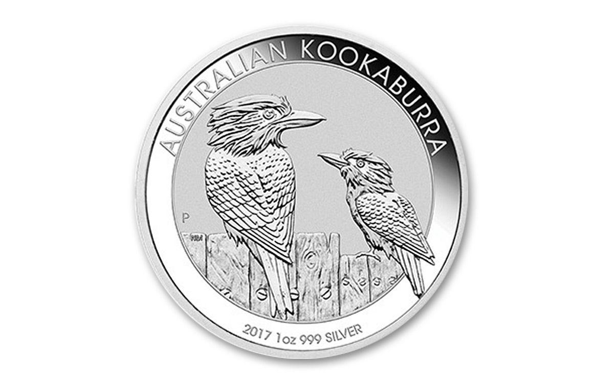2017 Australian 1 Dollar 1 Oz Silver Kookaburra Bu Coin
