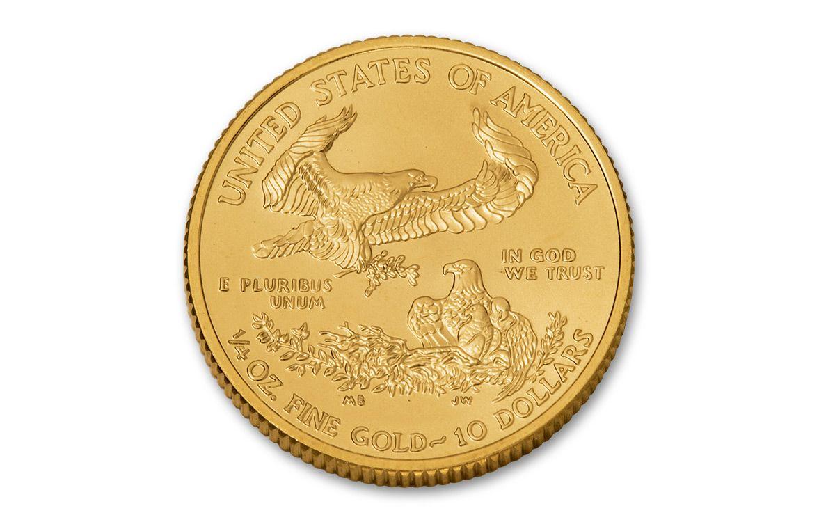 2017 Us 10 Dollar 1 4 Oz Gold Eagles Brilliant