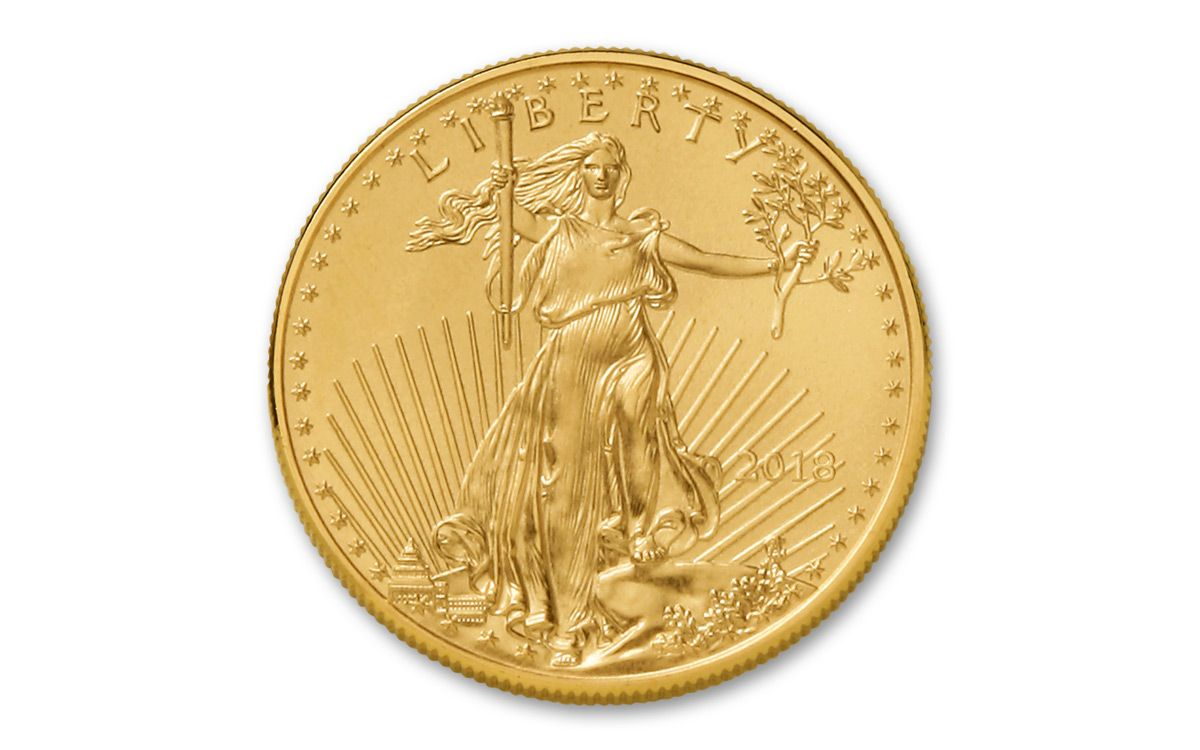 2018 Us 50 Dollar 1 Oz American Gold Eagle Bullion Coin Bu