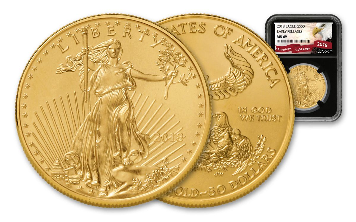 d07c855865e0 2018 50 Dollar 1-oz Gold Eagle NGC MS69 Early Releases Eagle Label - Black