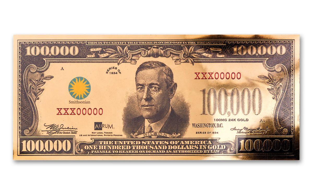 1934 100 000 Gold Certificate Currency Strike Pmg 70 Govmint Com