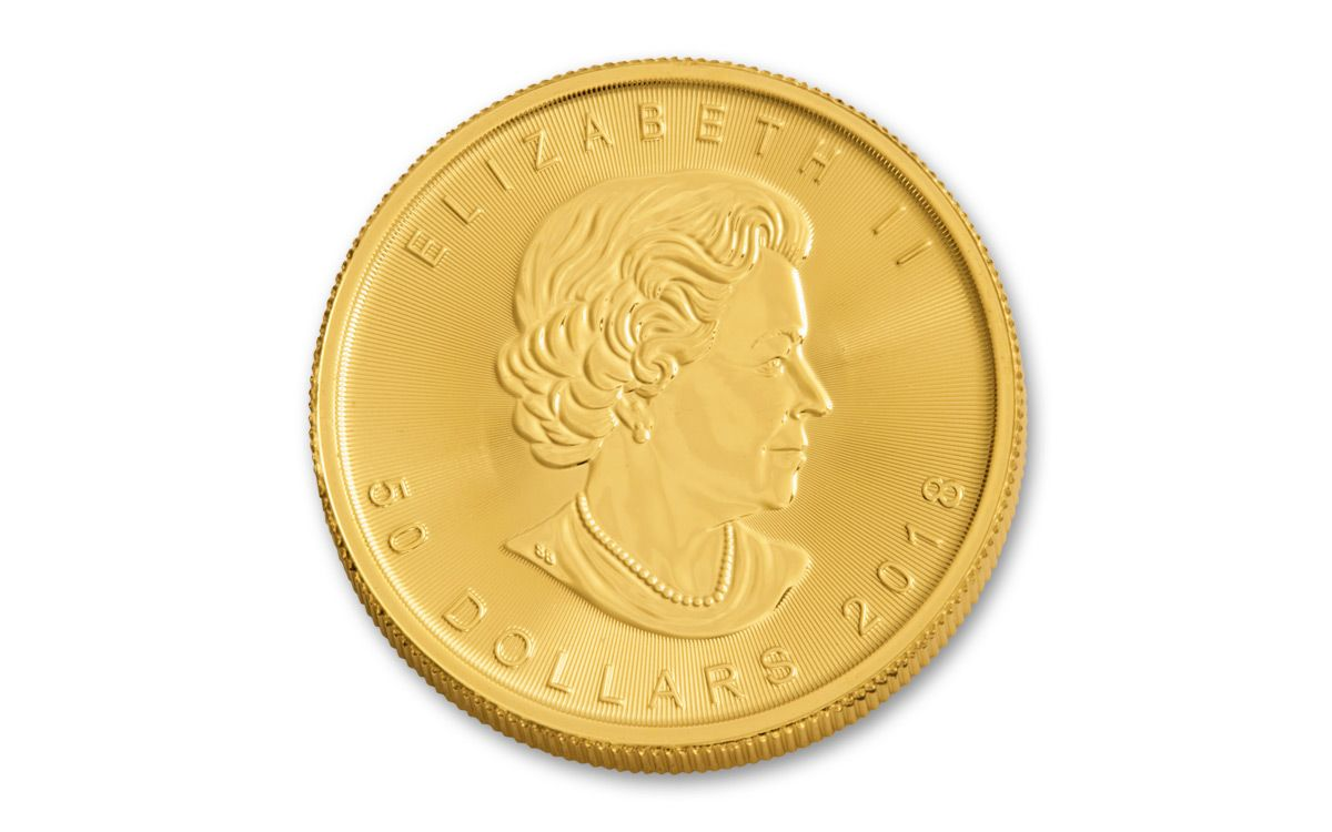 2018 Canada 50 Dollar 1-oz Gold Maple Leaf Bullion Coin BU | GovMint com