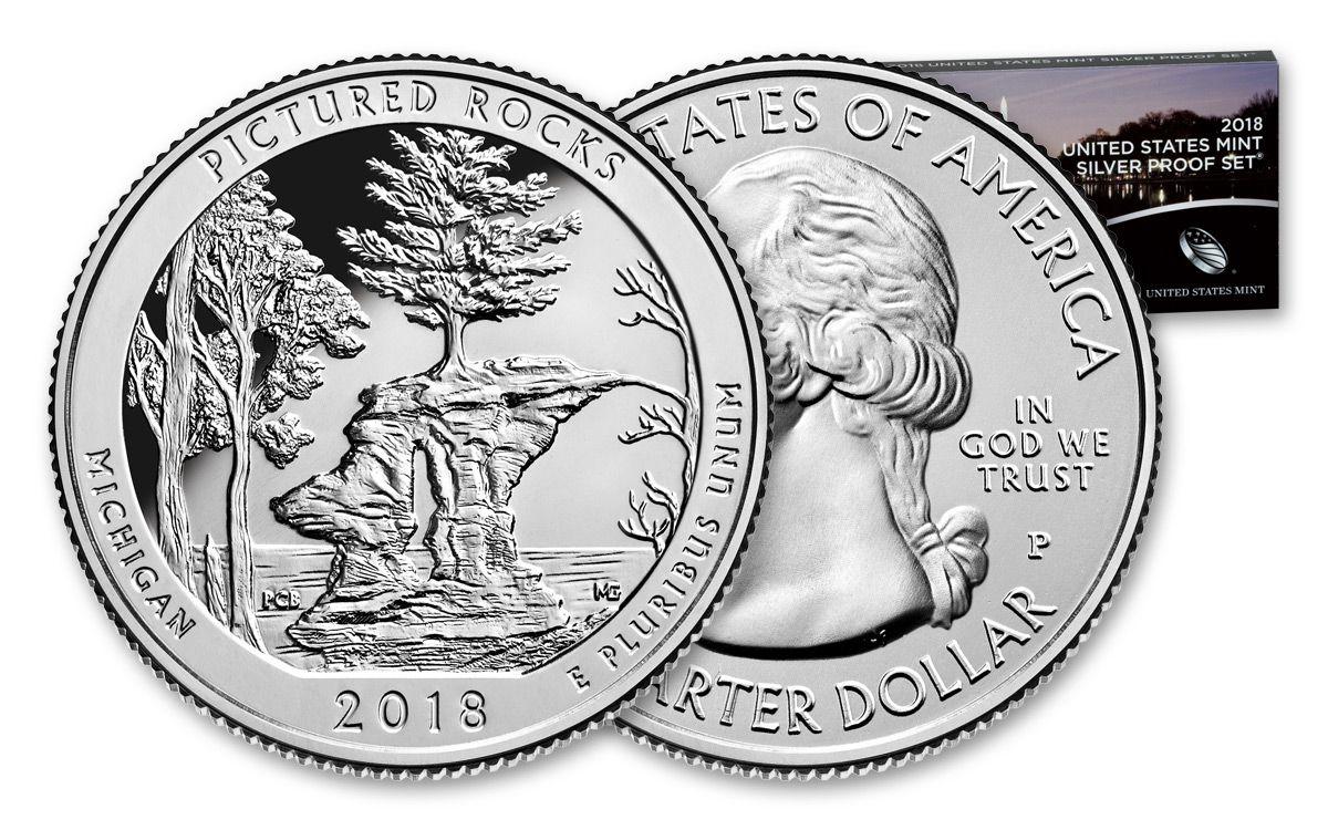 2018 US Mint 10-Piece Silver Proof Set   GovMint com