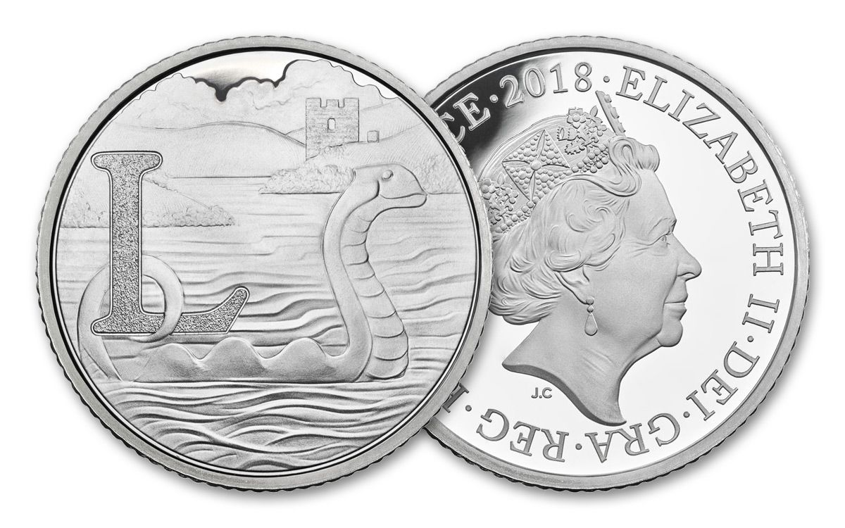 2018 Great British Coin Hunt Series Silver Loch Ness