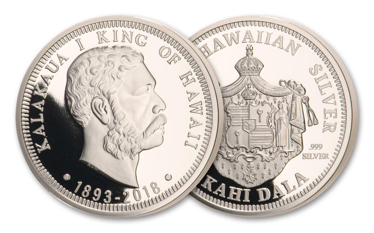2018 Kingdom of Hawaii 125th Anniversary King Kalakaua 1-oz Silver Proof |  GovMint com