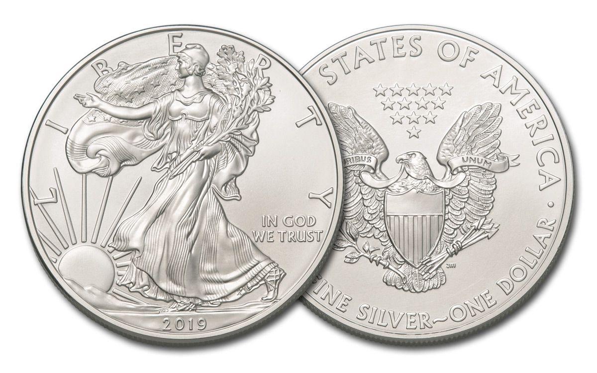 2019 1 Dollar 1 Oz Silver Eagle Bu Govmint Com