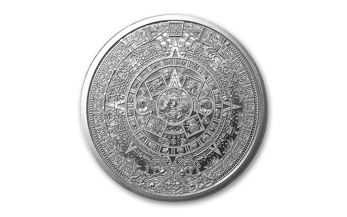 ddf3d3e6e 2018 Golden State Mint 1-oz Silver Aztec Calendar Round BU