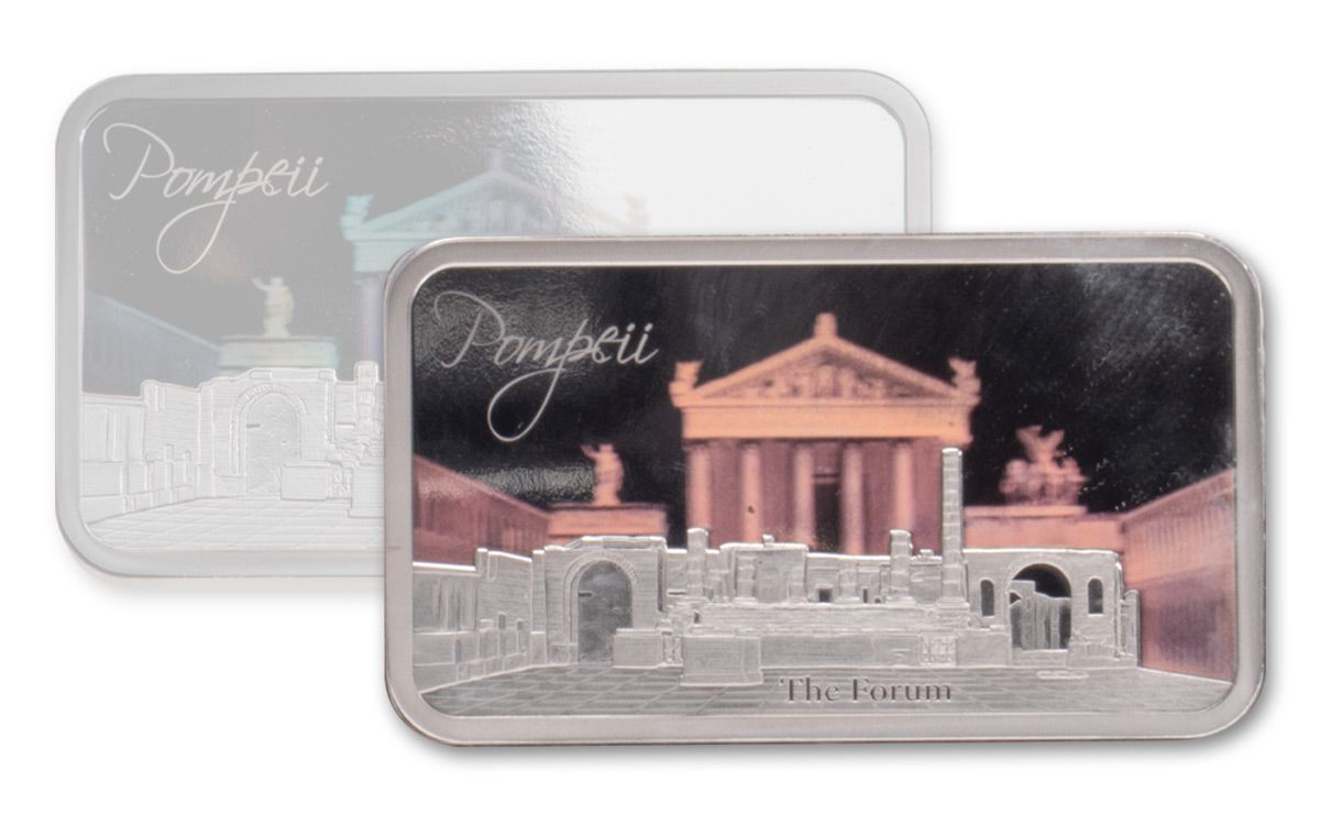 2018 Solomon Islands Forum of Pompeii 1-oz Silver Hologram Proof |  GovMint com