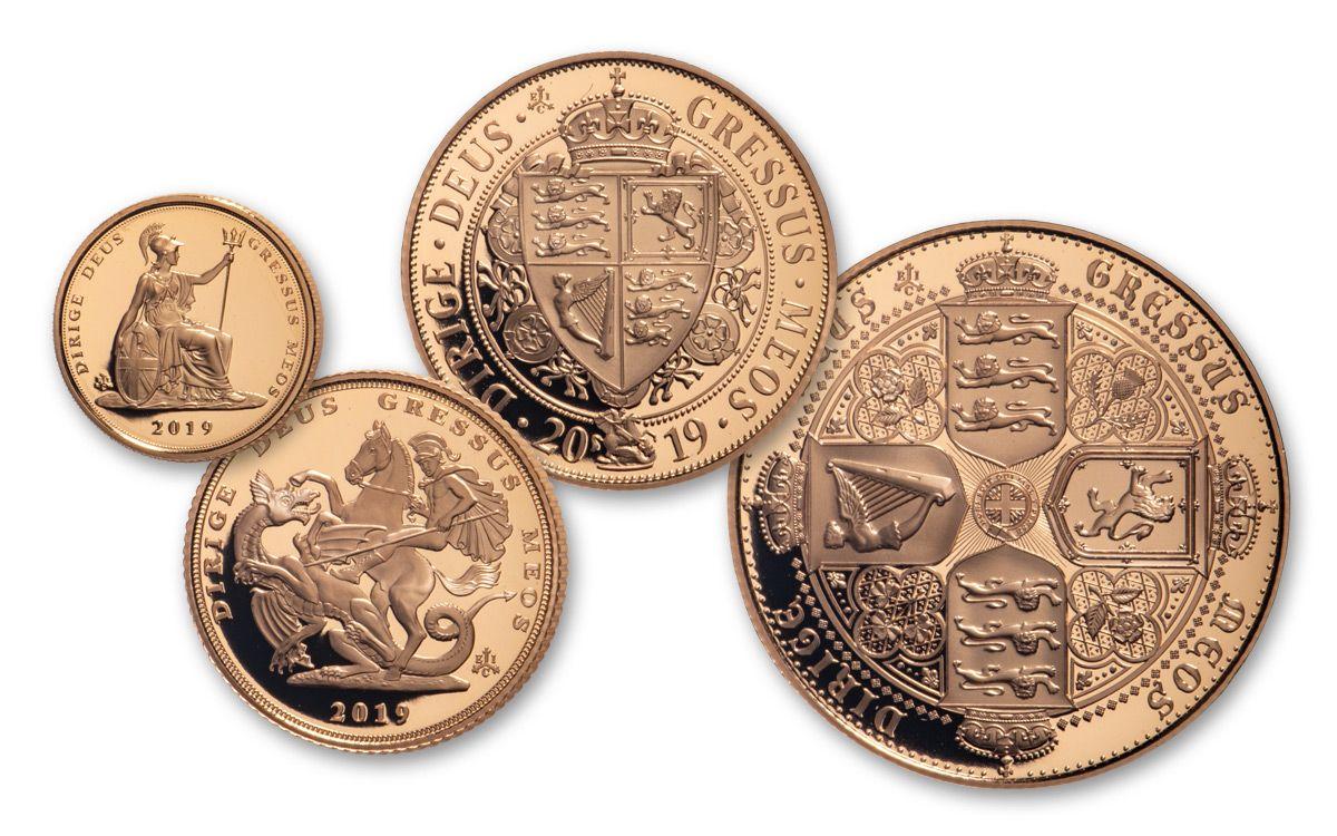 2019 Saint Helena Gold Sovereign Queen Victoria 5-pc Proof Set   GovMint com