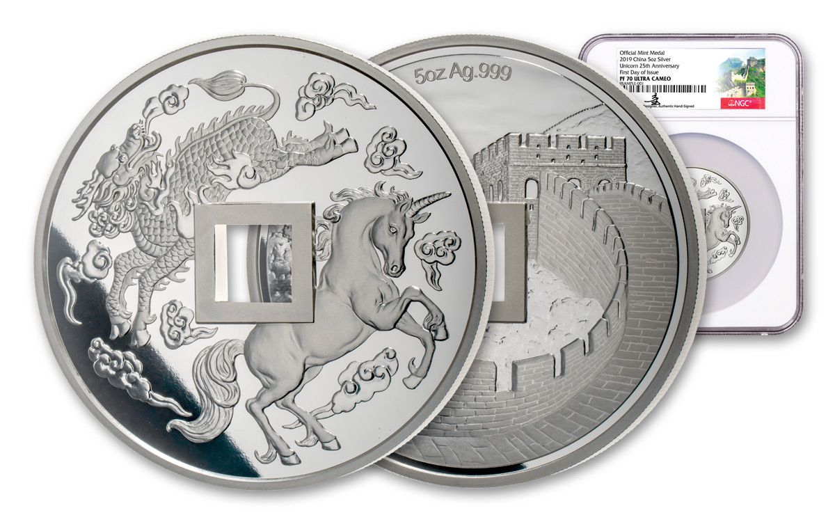 2019 China 5-oz Silver Unicorn Vault Protector NGC PF70UC FDI w/Song Fei  Signature | GovMint com