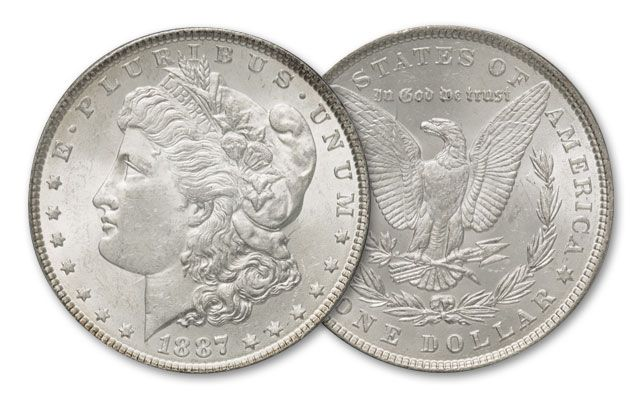 1887-P Morgan Silver Dollar BU