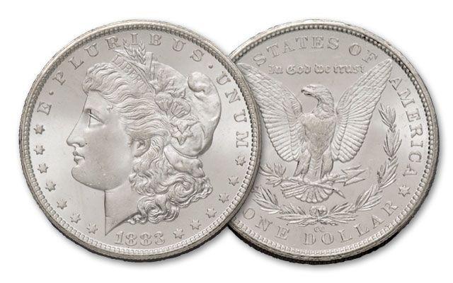 1883-CC Morgan Silver Dollar BU