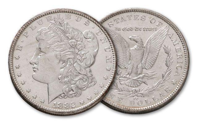 1882-CC Morgan Silver Dollar BU