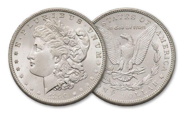1890-P Morgan Silver Dollar BU