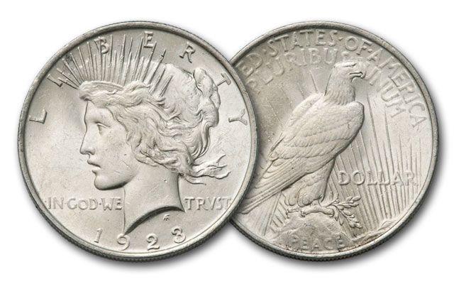 1922-P Peace Silver Dollar Brilliant Uncirculated BU