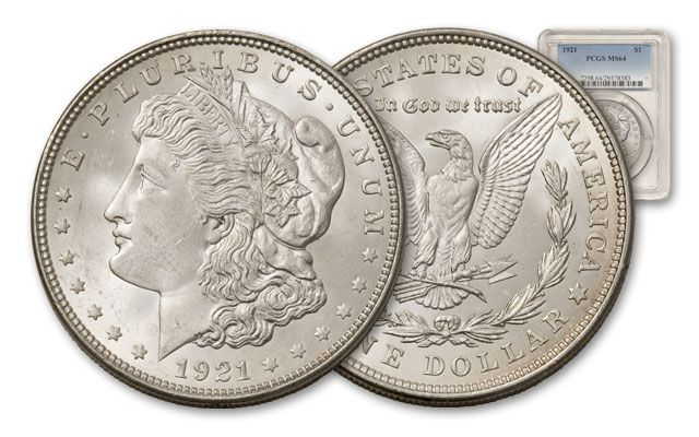 1921-P Morgan Silver Dollar MS64