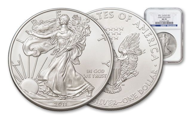 2011 1 Dollar 1-oz Silver Eagle NGC MS70 Early Release