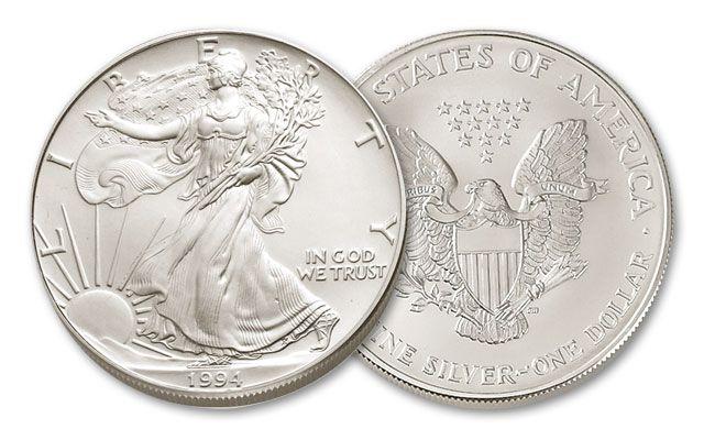 1994 1 Dollar 1-oz Silver Eagle BU