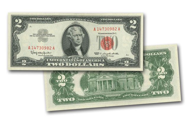 1953-1963 2 Dollar Federal Reserve Note VF