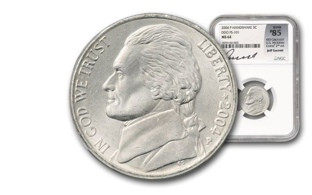 2004-P 5 Cent Jefferson Nickel DDO NGC MS64 - 100 Greatest Coins