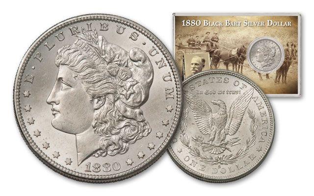 1880-S 1 Morgan Dollar Black Bart Silver Dollar BU