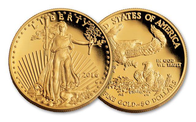 2016 50 Dollar 1 Oz Gold Eagle Proof