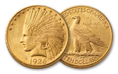 1907-1933 10 Dollar Gold Indian Type III NGC/PCGS MS62