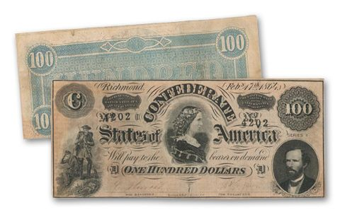 1864 100 Dollar Pickens CSA Note VF | GovMint.com