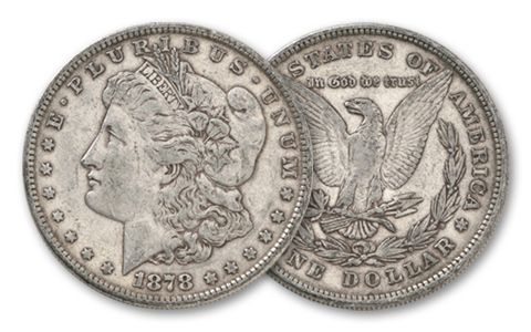 1878-P Morgan Silver Dollar 8 Tail Feathers XF