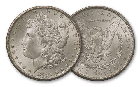 1882-CC Morgan Silver Dollar BU - Jesse James