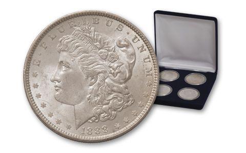 1885-1888 Morgan Silver Dollar Philadelphia BU 4 Pieces