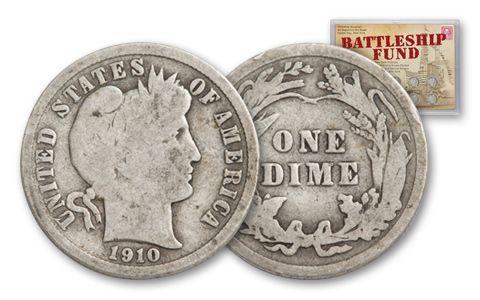 1892–1916 10 Cents Barber Battleship Fund 10-Piece Set